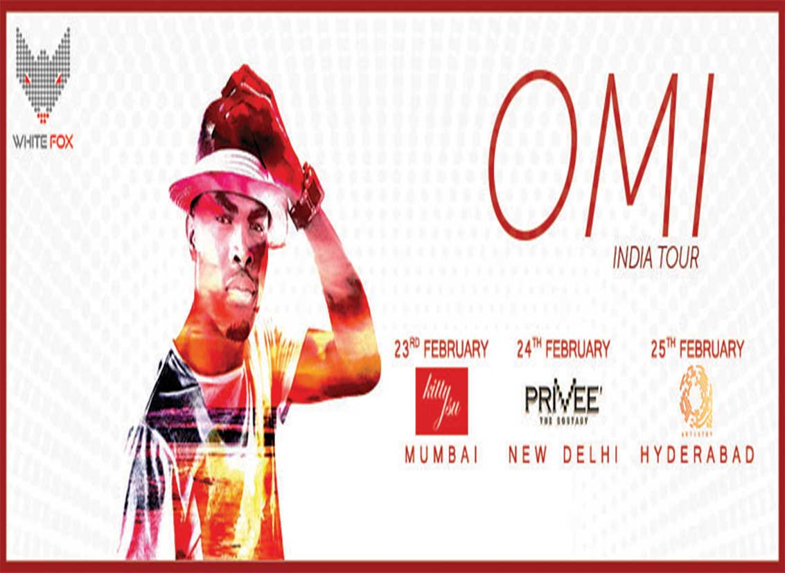"Debut India Tour of ""Cheerleader"" singer OMI brought by White Fox India"