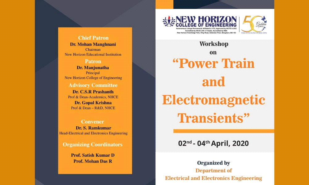 Workshop on Power Train and Electromagnetic Transients