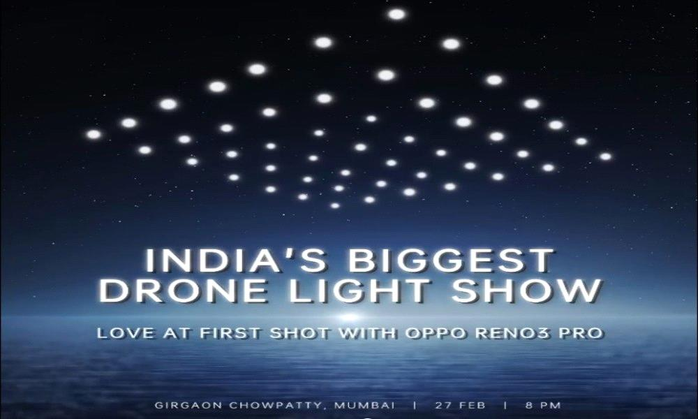 OPPO to light up Mumbai Skyline with India's Biggest Drone Fly Light Show
