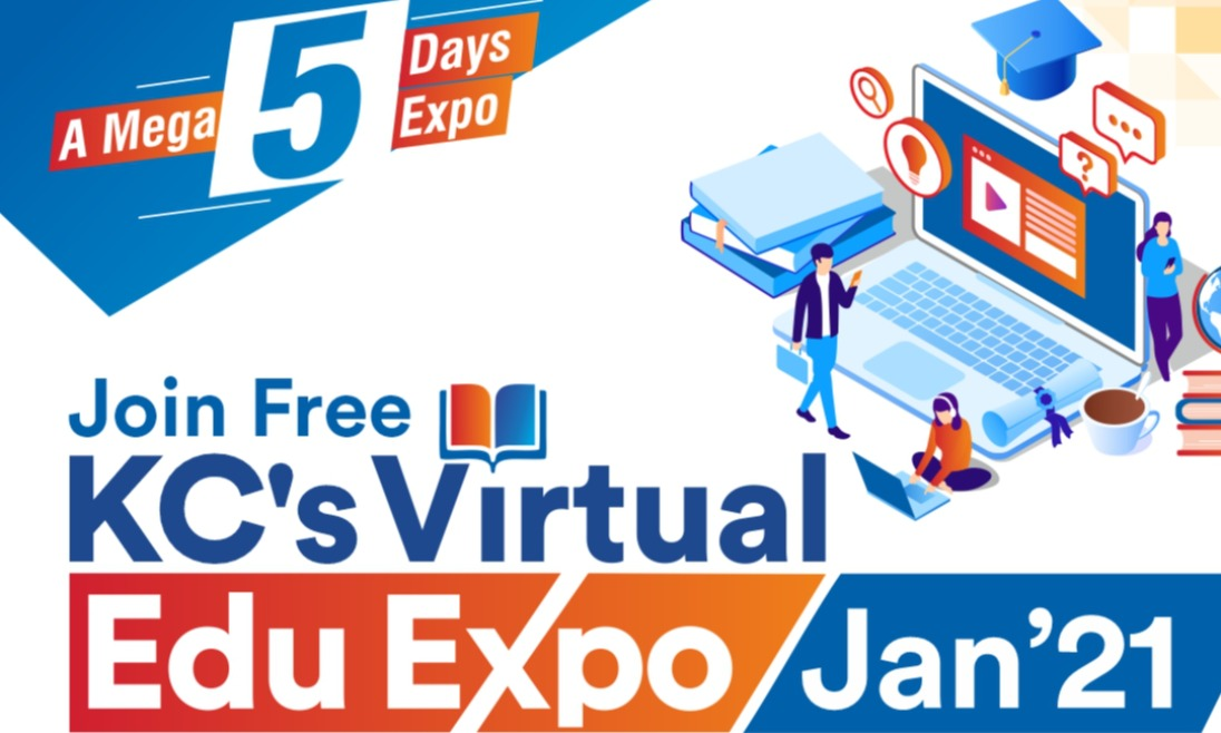 Join Free KCs Virtual Edu Expo from 19th to 23rd Jan 21