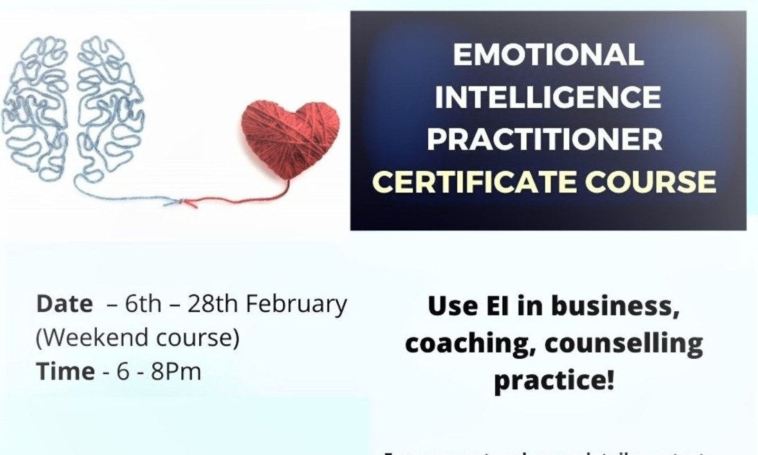 Certificate Course on Emotional Intelligence Practitioner Course (Weekend course)