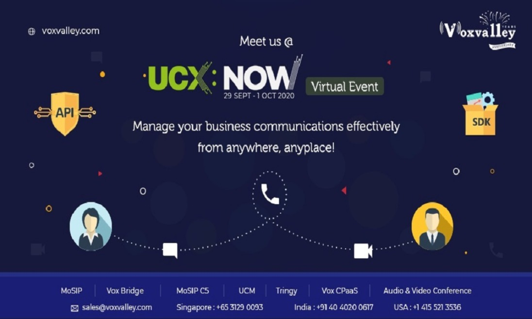 UCEXPO2020 Virtual Event Meeting | Voxvalley