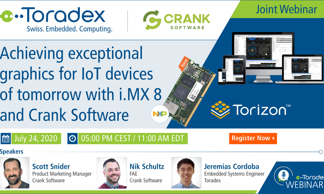 Webinar: Achieving exceptional graphics for IoT devices of tomorrow with i.MX 8 and Crank Software