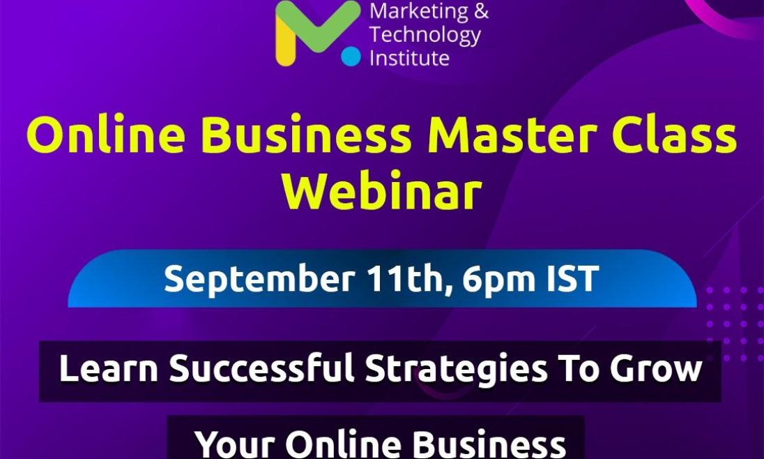 Online Business Masterclass Webinar