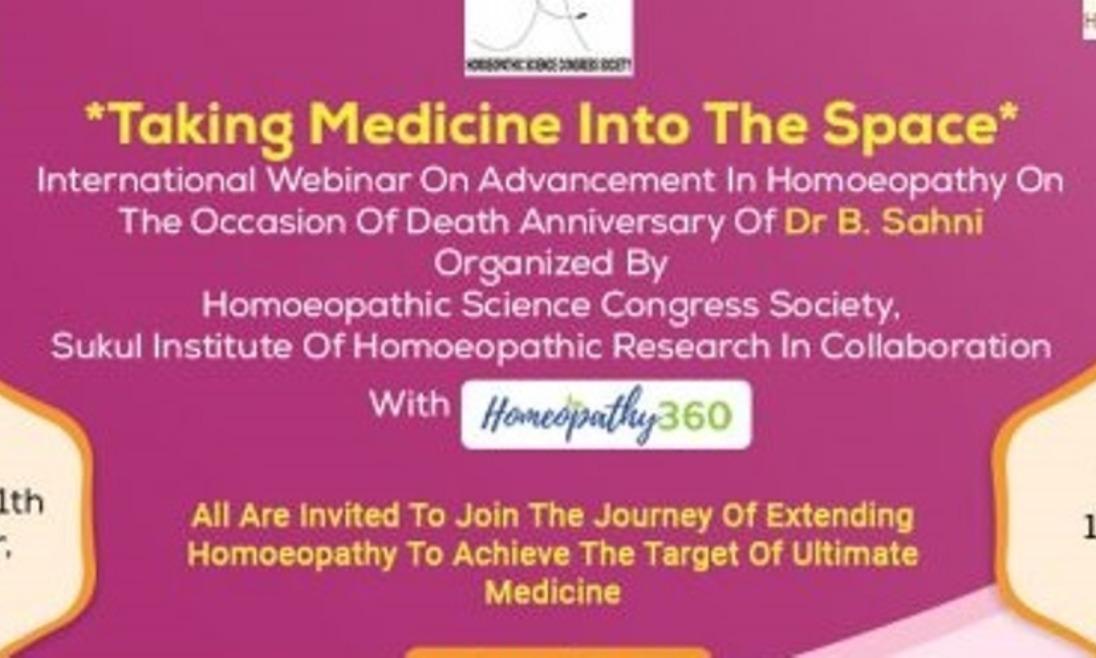International Webinar on Advancement in Homeopathy