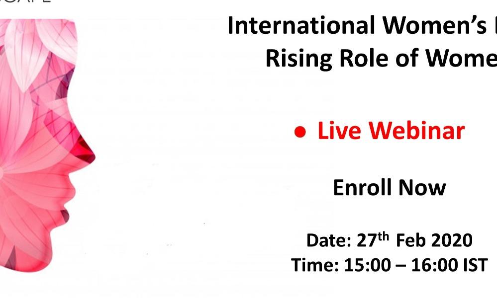 [Webinar] International Women's day – Rising Role of Women