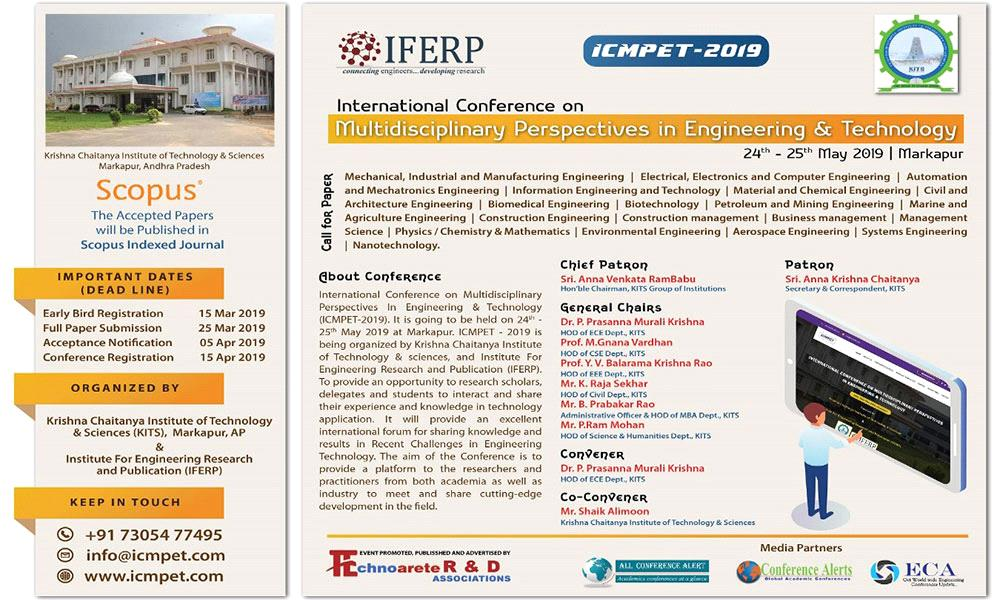 """International Conference on """"Multidisciplinary Perspectives in Engineering & Technology"""""""
