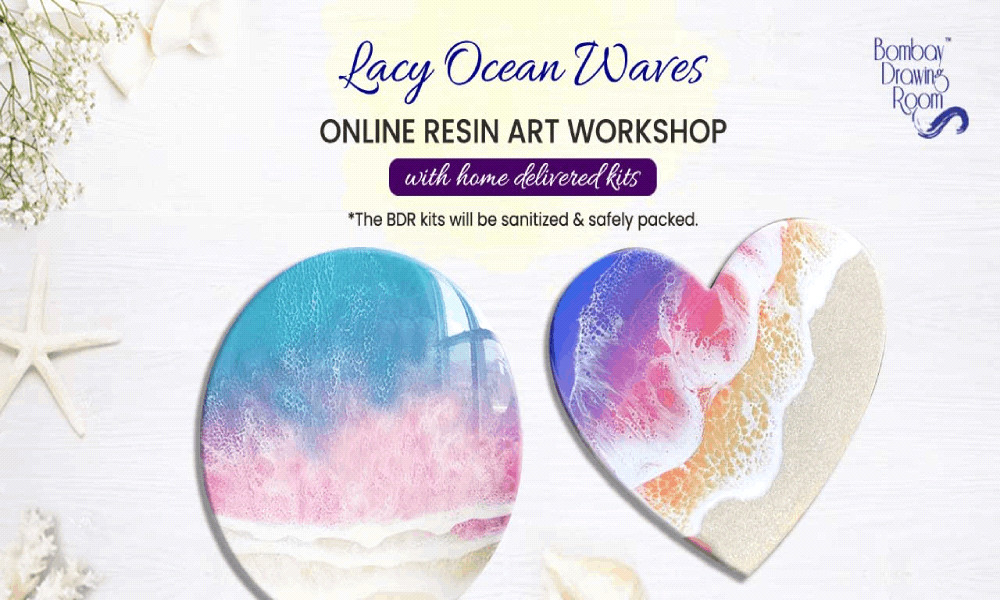 Lacy Ocean Waves Resin Art Workshop with Kits