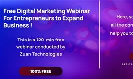 Free Digital Marketing Webinar  For Entrepreneurs to Expand Business!