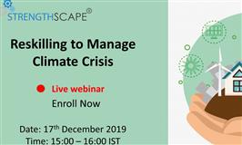 [Webinar ] Reskilling to Manage Climate Crisis