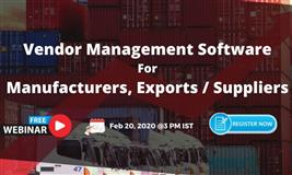 Free Webinar - How to Drive efficiency in Vendor Management