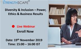 [Webinar] Diversity & Inclusion – Power, Ethics & Business Results