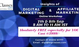 Insights of Digital & Affiliate Marketing 2 days Online Workshop