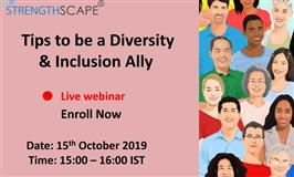 [Webinar] Tips to be a Diversity & Inclusion Ally
