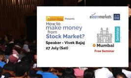 How to make Money from Stock Markets? Join the Seminar on 27th July, Mumbai