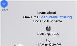 One-Time Debt Restructuring announced by the RBI