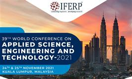 39th World Conference on Applied Science, Engineering & Technology