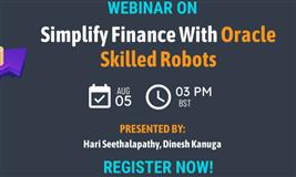 Live Webinar : Simplify Finance with Oracle skilled Robots
