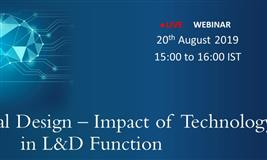 Free Webinar Instructional Design – Impact of Technology in L&D Function