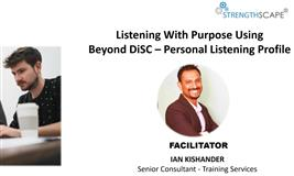 [Free Webinar] Listening with purpose using Beyond DiSC – Personal Listening Profile