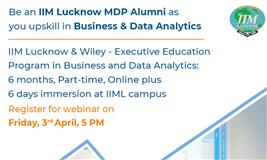 Be an IIM Lucknow MDP Alumni as you upskill in Business & Data Analytics