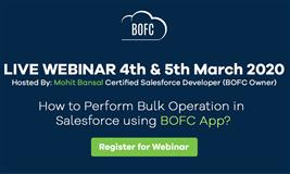 Perform Bulk Operations in Salesforce Using BOFC App
