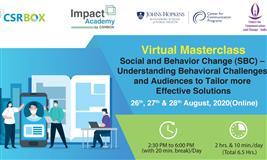 Virtual Masterclass: Social and Behavior Change (SBC)