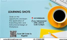 Learning Shots for Everything DiSC and Instructional Design Enthusiasts