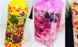Decoupage bottle  Workshop