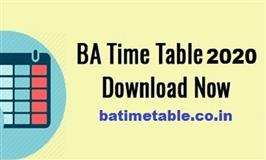 BA Time Table Launches Country Wide Exam Schedule for All Universities for the Year 2020