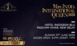 MRS INDIA INTERNATIONAL QUEEN 2020 GRAND FINAL– 21ST JUNE 2020
