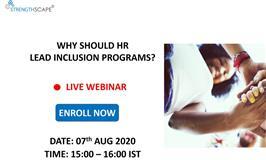 [Free Webinar] Why should HR lead Inclusion programs?