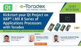 Webinar: Kickstart your Qt Project on NXP i.MX 8 Series of Applications Processors with Toradex