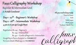 Faux Calligraphy Workshop