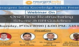 One Time Restructuring Scheme & RBI Guidelines