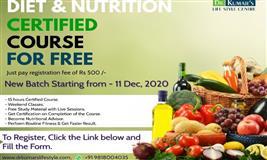 Certificate Course in Diet & Nutrition by DKLC