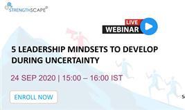 [Free Webinar] 5 Leadership Mindsets to Develop During Uncertainty