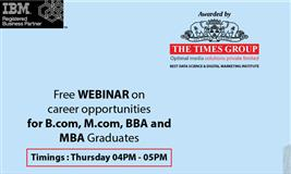 Free Webinar On Career Opportunities for MBA,BBA,B.Com and M.Com