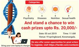 Get Healthy Writing Contest By FactDr in Collaboration with 91Springboards