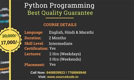 Python Programming Classes in Pune - SourceKode Training Institute