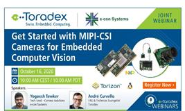Webinar: Get Started with MIPI-CSI Cameras for Embedded Computer Vision