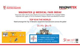 26th International Exhibition and Conference. Magnatek@ Medical Fair India!
