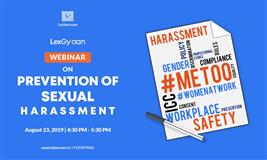 Webinar on Prevention of Sexual Harassment At Workplace