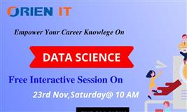 Free Data Science Demo in hyderabad at Orien IT On 23rd Nov Sat @10 AM