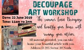 ARTi CRAFTy Decoupageart workshop