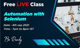 DevLabs Alliance is coming up with FREE Live Class on Automation with SELENIUM.
