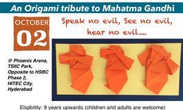 Origami Tribute to Mahatma Gandhi
