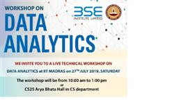 Workshop on Data Analytics