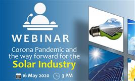 Webinar on Corona pandemic and the way forward for the Solar Industry