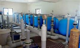 Swimming pool filtration plant & pool